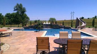 TKS Large Family Fun Gunite Swimming Pool, Spa & Fountains