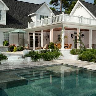 Bild på en vintage pool