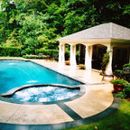 French Country European Style Home Traditional Pool Detroit By M J Whelan Construction
