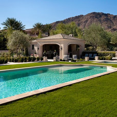 Traditional Pool by Candelaria Design Associates