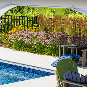 Traditional Pool and Landscape - Cedarburg