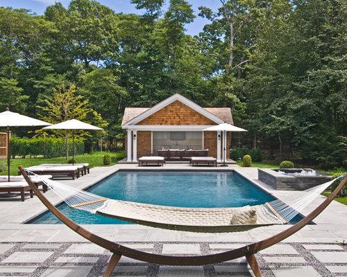 example of a classic rectangular pool design in new york cedar hammock stand   houzz  rh   houzz