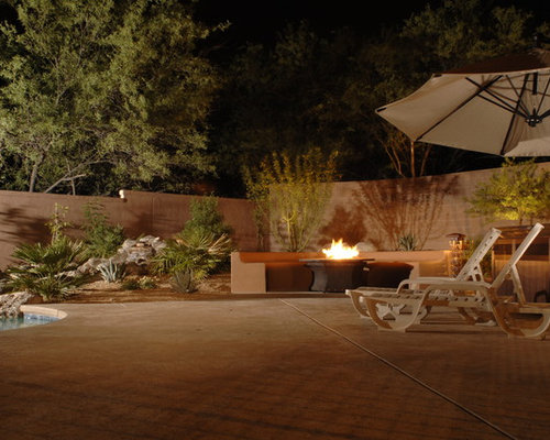 Modern southwest courtyard home design ideas pictures for Courtyard landscaping ottawa
