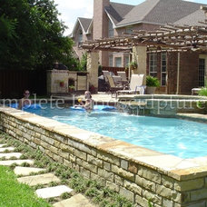 Traditional Pool by Complete Landsculpture