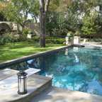 Rectangular Pool With Raised Spa Traditional Pool Chicago By Rosebrook Pools Inc