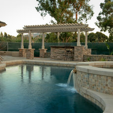 Traditional Pool by JD Design
