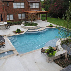 Traditional Pool by Marlin Landscape Systems
