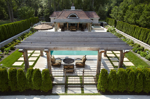 Traditional Pool by Mosher & Associates