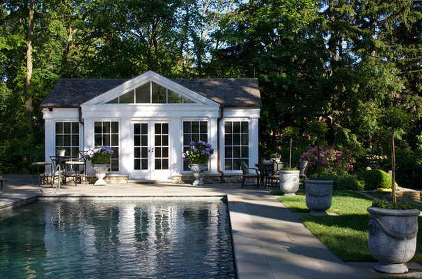 Traditional Pool by Northworks Architects and Planners