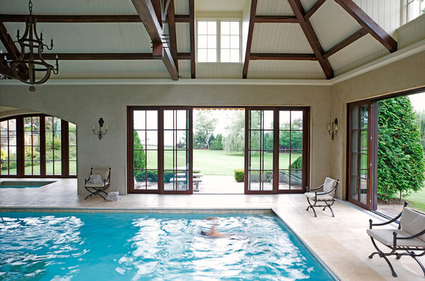 Traditional Pool by Planters