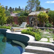Traditional Pool by Sarah Barnard Design