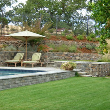 Traditional Pool by Suzman Design Associates
