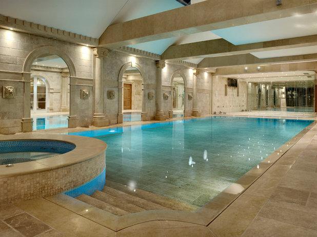 Traditional Pool Traditional Swimming Pool & Hot Tub