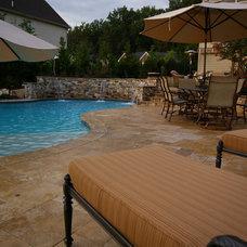 Contemporary Pool by Environmental Landscape Associates