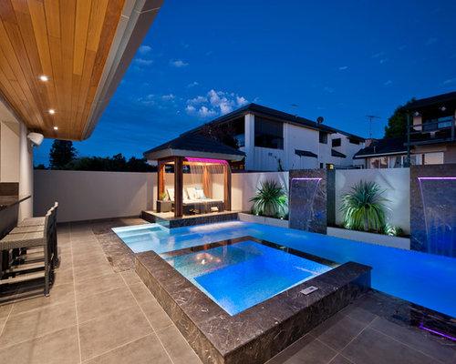 Fotos de piscinas dise os de casas de la piscina y for Piscinas estrechas y alargadas