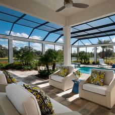Contemporary Pool by Romanza Interior Design