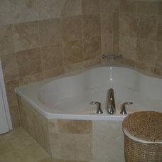 Mediterranean Bathroom by StoneMar Natural Stone Company LLC