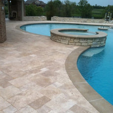 Traditional Pool by Two Brothers Brick Paving
