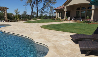 Travertine Pool Coping - Paradise, CA