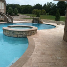 Mediterranean Pool by Two Brothers Brick Paving
