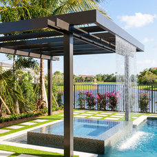 Contemporary Pool by Coastal Screen and Rail