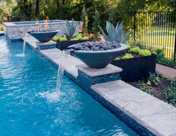 Trophy Club Modern Pool, Spa & Cabana