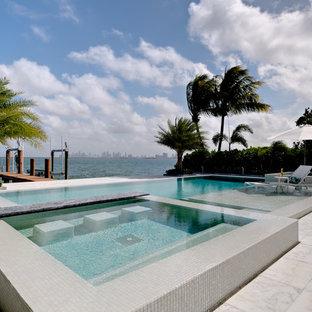 Tropischer Pool in Miami