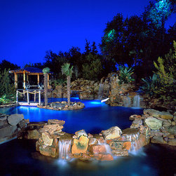 Tropical cabana pool design ideas pictures remodel decor for Pool show discovery