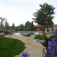 Traditional Pool by River Valley Landscapes & Pools