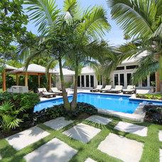 Tropical Pool by Coastal Home Photography, llc