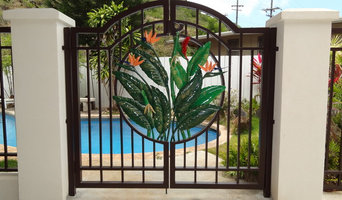 Tropical Pool Gate