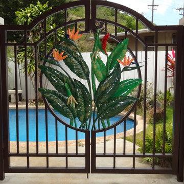 Tropical Pool Gate