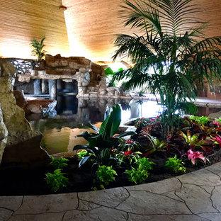 Tropical Poolside Landscape