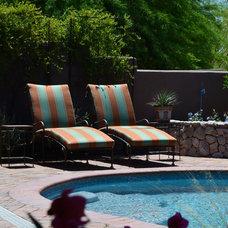 Mediterranean Pool by Landscape Design West, LLC