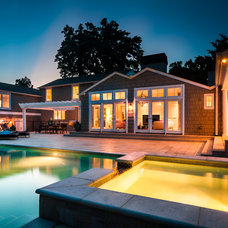 Traditional Pool by DRM Design Group Landscape Architecture & Planning