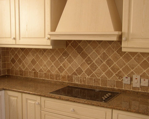 kitchen backsplash designs travertine tumbled travertine backsplash houzz 796