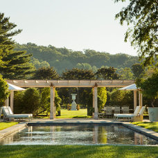 Traditional Pool by Janice Parker Landscape Architects