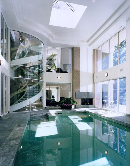 contemporary pool by kevin akey - azd associates