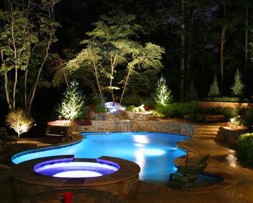 Lights Around Pool Design Ideas & Remodel Pictures   Houzz:Lights Around Pool Photos,Lighting