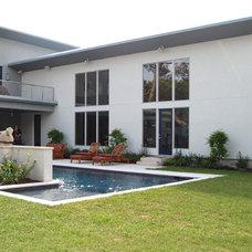 Contemporary Pool by Robert Sanders Homes