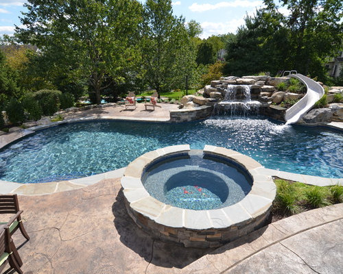 Traditional garden and outdoor design ideas renovations for Pool design houzz