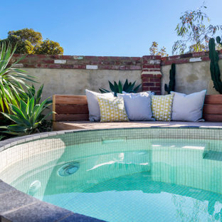 This is an example of a small shabby-chic style pool in Perth.