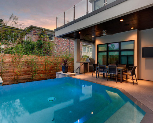 Example of a trendy infinity pool design in Houston. Small Swimming Pool   Houzz