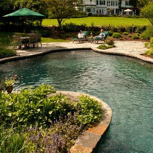 Foto de piscina clásica a medida