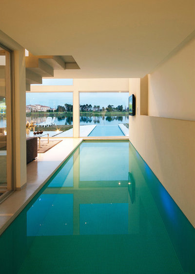 Contemporain Piscine by Vanguarda Arquitectos