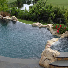 Rustic Pool by Bonick Landscaping