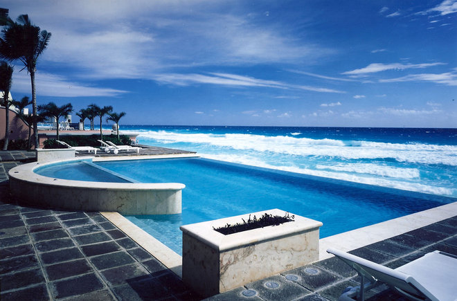 Tropical Pool by Jerry Jacobs Design, Inc.