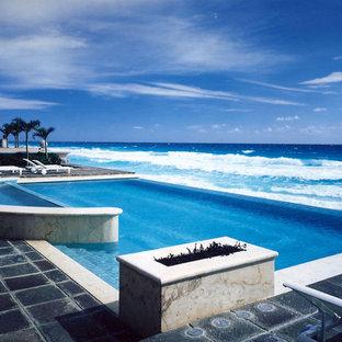 Foto de piscina infinita exótica