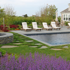 Traditional Pool by David Bartsch Landscape Architecture LLC