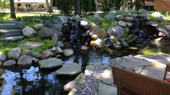 Various pond and water fall projects, including pond less features.